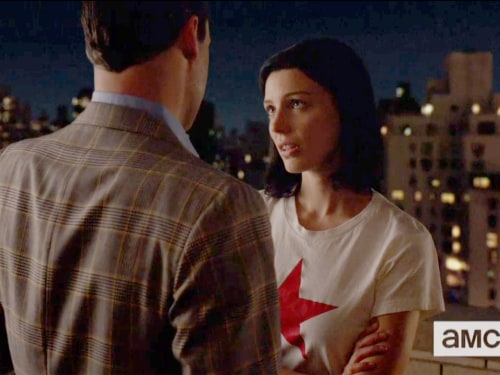 "Jon Hamm and Jessica Pare in ""Mad Men."""