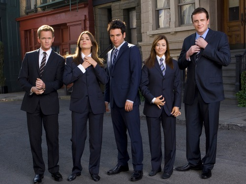 "The cast of ""How I Met Your Mother"": Neil Patrick Harris, Cobie Smulders, Josh Radnor, Alyson Hannigan and and Jason Segel."