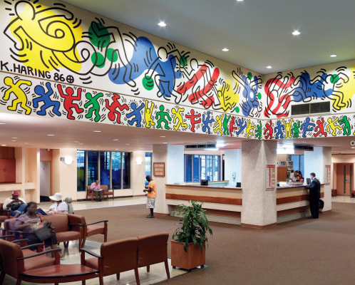 Keith Haring, Woodhull Medical Center Mural, 1986.