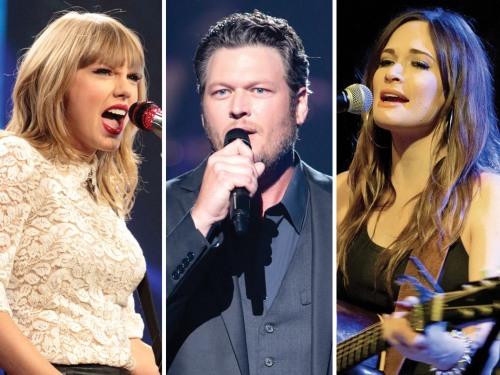 Image: Taylor Swift, Blake Shelton, Kacey Musgraves