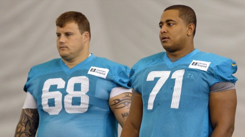 Richie Incognito, left, and Jonathan Martin, right.