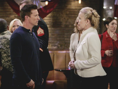 "Image: Steve Burton, Melody Thomas Scott ""The Young and the Restless"" Set  CBS television City Los Angeles 09/25/13 © sean smith/jpistudios.com 310-657-9661 ..."