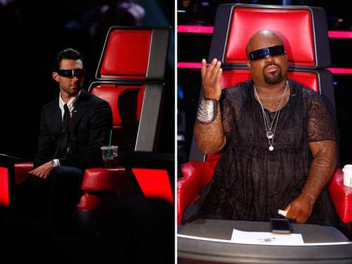Image: Adam Levine and CeeLo Green on The Voice.