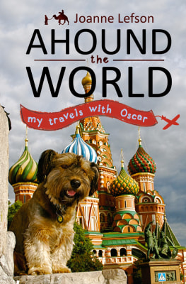 """Image: Book cover for """"Ahound the World"""" by Joanne Lefson"""