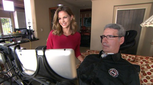 """Augie and Natalie Morales, who says he is thriving, """"miraculously."""""""
