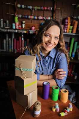 Lacey Bortvit says her packaging business on Etsy is a full-time job and also supplements her photography business.