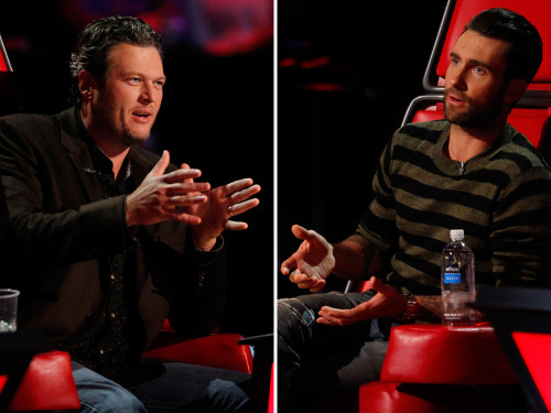 Image:  Blake Shelton and Adam Levine on The Voice