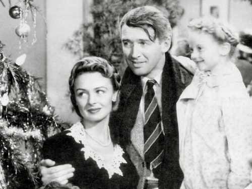"""Donna Reed and Jimmy Stewart won't be able to return for an """"It's a Wonderful Life"""" sequel, but Karolyn Grimes, who played Zuzu, will appear as an angel."""