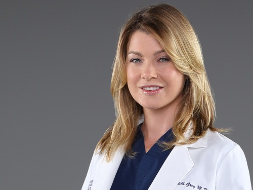 "Image: Ellen Pompeo as Dr. Meredith Grey on ""Grey's Anatomy."""