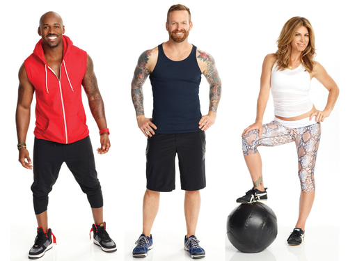 "Image: ""Biggest Loser"" trainers Dolvett Quince, Bob Harper and Jillian Michaels."