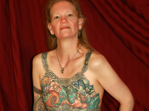 Inga Duncan Thornell's breast tattoo