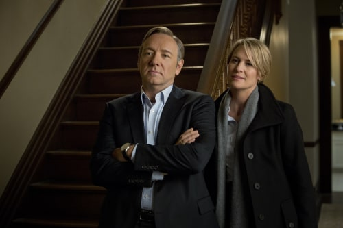 "Kevin Spacey and Robin Wright play a Washington, D.C. power couple in ""House of Cards."""