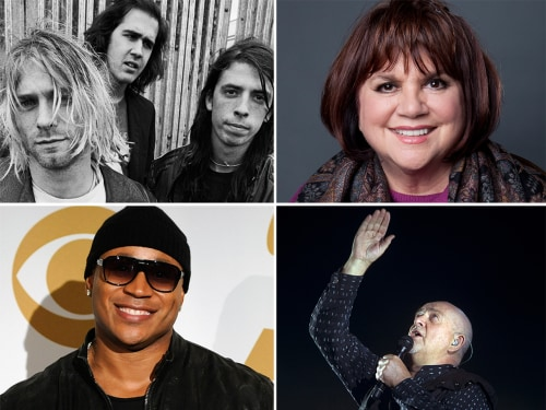 Nirvana, Linda Ronstadt, LL Cool J and Peter Gabriel are on a ballot for induction into the Rock Hall of fame, and fans will also have a say in choosing who gets in.