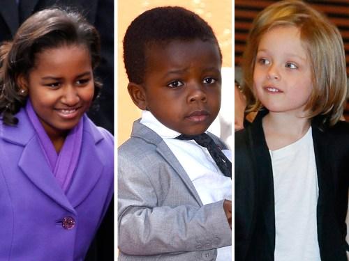 Sasha Obama, Louis Bardo Bullock and Knox Jolie-Pitt