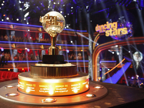 "Image: ""Dancing With the Stars"" mirror ball trophy."