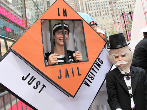 TODAY fans, dressed in costumes inspired by the game Monopoly, compete in TODAY's Halloween costume contest.