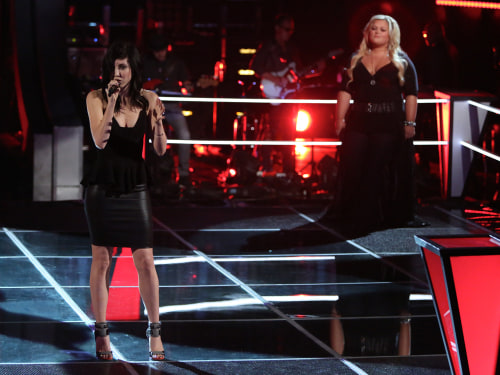 Image: Briana Cuoco and Shelbie Z. on The Voice.