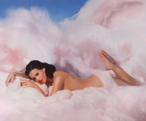 "Katy Perry on the cover of her ""Teenage Dream"" release."