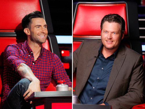Image: Adam Levine and Blake Shelton on The Voice.