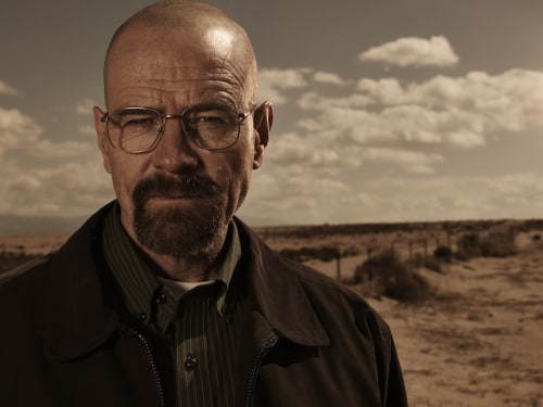 "Bryan Cranston as Walter White on ""Breaking Bad."""