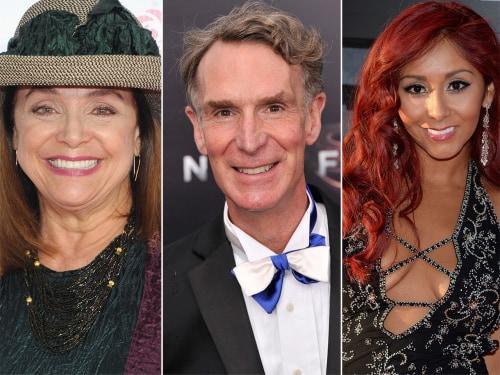 "Image: Valerie Harper, Bill Nye and Nicole ""Snooki"" Polizzi."