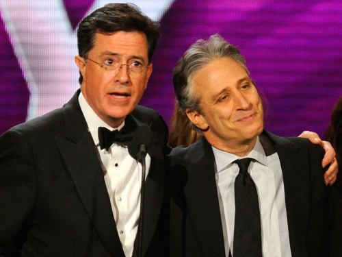 Image: Stephen Colbert and Jon Stewart