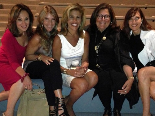 Hoda in a group shot at the event, guarding her fancy purse carefully on her lap.