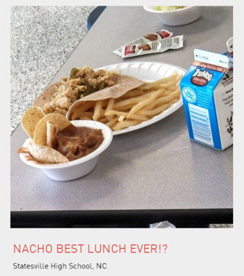 School lunch from Statesville High School, NC.