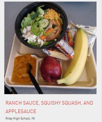 School lunch from Riley High School, IN.