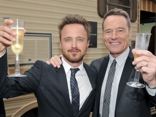 Aaron Paul, left, and Bryan Cranston.