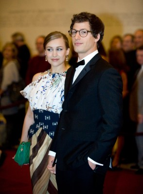 Image: Andy Samberg and Joanna Newsom.