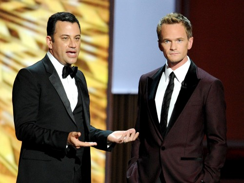 Jimmy Kimmel offered Neil Patrick Harris a suggestion to enjoy the evening as Emmy host, since he might not get asked back.
