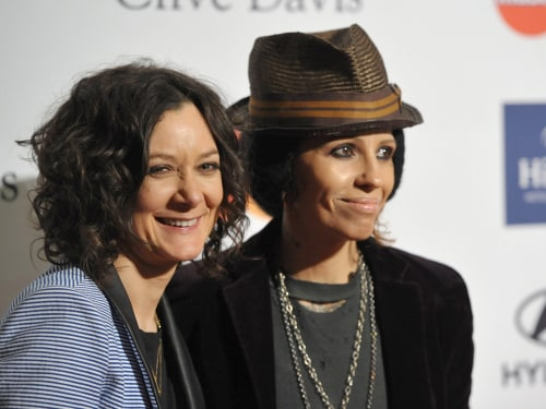 Image: Sara Gilbert and recording artist Linda Perry