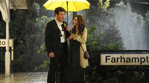 """The day they met:  Josh Radnor as Ted and Cristin Milioti as Tracy in the """"How I Met Your Mother"""" series finale."""