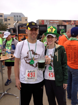 The Watlings at the St. Patrick's Day Paddy Dash in Frisco, Texas.