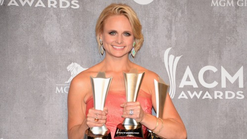 Miranda Lambert and her well-deserved awards from the night.