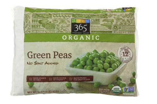 Shoppers who buy organic frozen vegetables will find peas and corn up to $1 cheaper at Whole Foods.