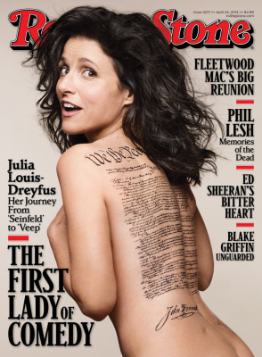 Julia Louis-Dreyfus on the April 24, 2014, issue of Rolling Stone.