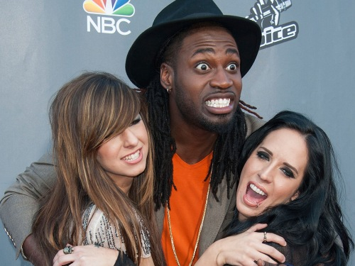 Image: Christina Grimmie, Delvin Choice and Kat Perkins