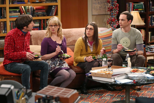 "Simon Helberg, Melissa Rauch, Mayim Bialik and Jim Parsons in ""The Big Bang Theory,"" which could end after 10 seasons."