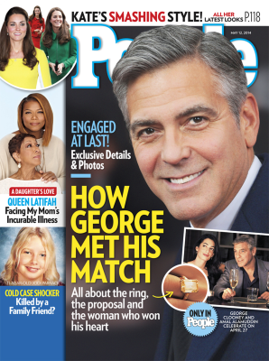 People magazine's George Clooney engagement cover.