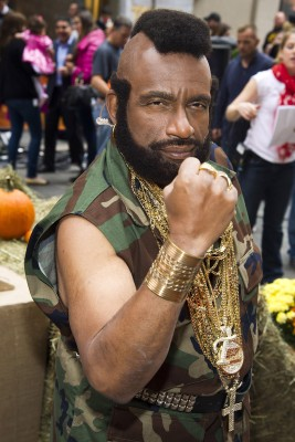 "Al Roker on TODAY's 2013 Halloween show as B.A. Baracus, who was portrayed by Mr. T in ""The A-Team."""