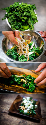 Fresh kale with tofu and spicy-sweet Sriracha by chef Michael Ferraro
