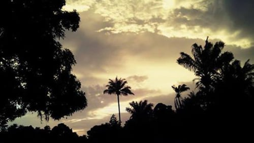 The sky over Koba, Guinea, where Sara Laskowski was a Peace Corps volunteer.