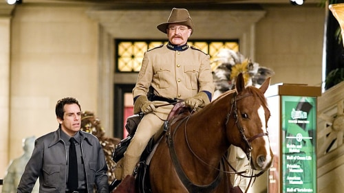 "Ben Stiller and Robin Williams in 2006's ""Night at the Museum."""