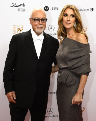 Céline Dion and René Angélil in 2012.