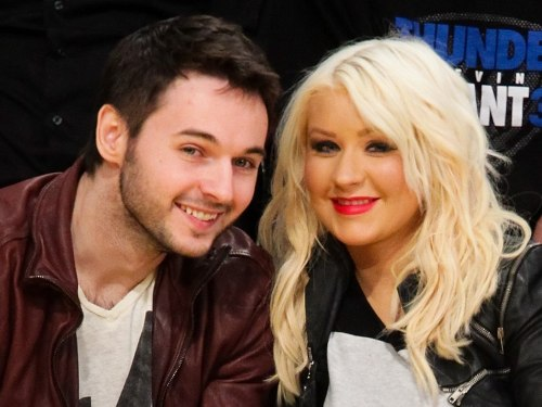 Image: Christina Aguilera and her fiance Matthew Rutler