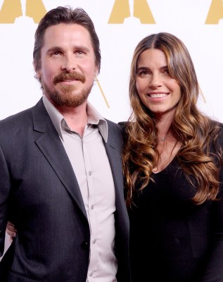Image: Christian Bale and wife Sibi