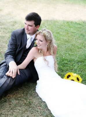 Chapman's wedding photo with her husband, Chris, from July 22, 2011.