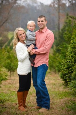 With counseling and Erik's friendship, Matt Swatzell (here, with his wife and son) has overcome his anxiety and guilt.